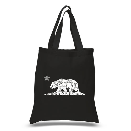 LA Pop Art Small Word Art Tote Bag - California Dreamin