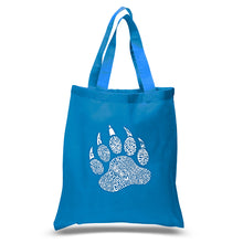 Load image into Gallery viewer, LA Pop Art Small Word Art Tote Bag - Types of Bears