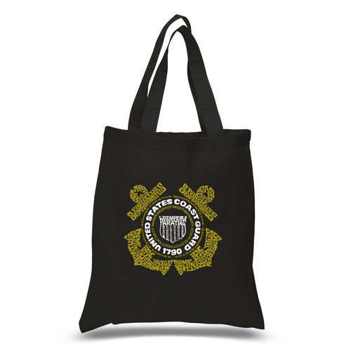 LA Pop Art Small Word Art Tote Bag - Coast Guard