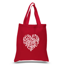 Load image into Gallery viewer, LA Pop Art Small Word Art Tote Bag - LOVE