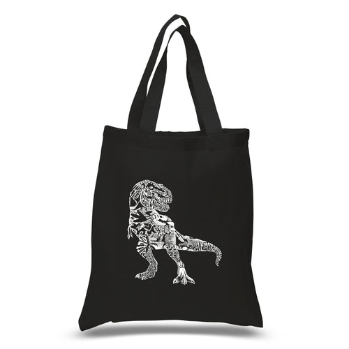 LA Pop Art Small Word Art Tote Bag - Dino Pics