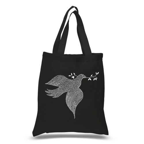 LA Pop Art Small Word Art Tote Bag - Dove