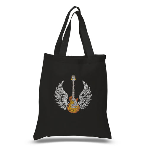 LA Pop Art Small Word Art Tote Bag - LYRICS TO FREE BIRD