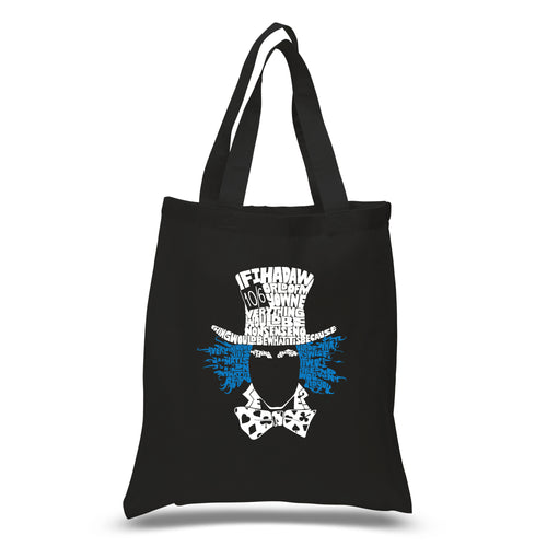 LA Pop Art Small Word Art Tote Bag - The Mad Hatter