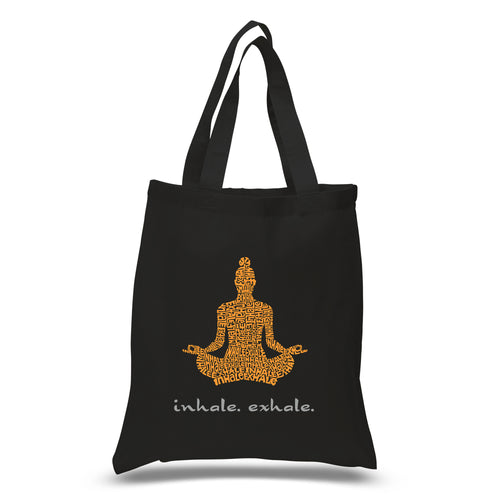 LA Pop Art Small Word Art Tote Bag - Inhale Exhale