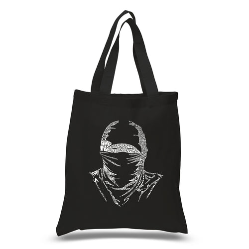LA Pop Art Small Word Art Tote Bag - NINJA