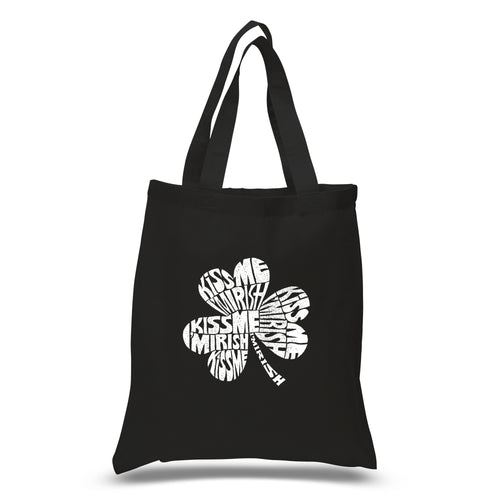 LA Pop Art Small Word Art Tote Bag - KISS ME I'M IRISH