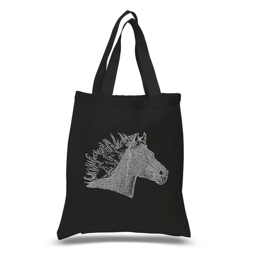 LA Pop Art Small Word Art Tote Bag - Horse Mane