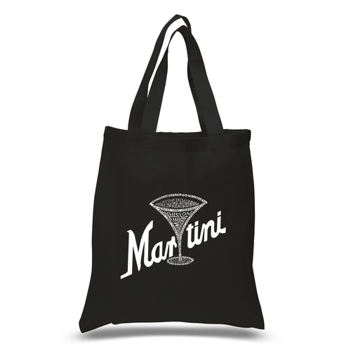 LA Pop Art Small Word Art Tote Bag - Martini