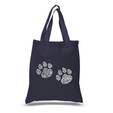 Load image into Gallery viewer, LA Pop Art Small Word Art Tote Bag - Meow Cat Prints