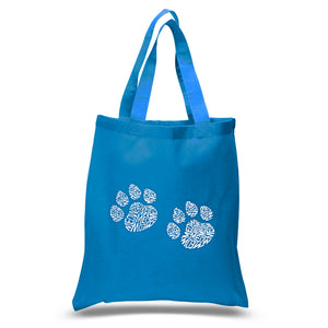 LA Pop Art Small Word Art Tote Bag - Meow Cat Prints