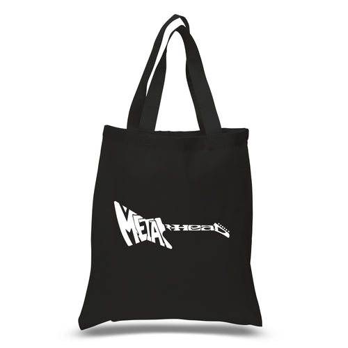 LA Pop Art Small Word Art Tote Bag - Metal Head