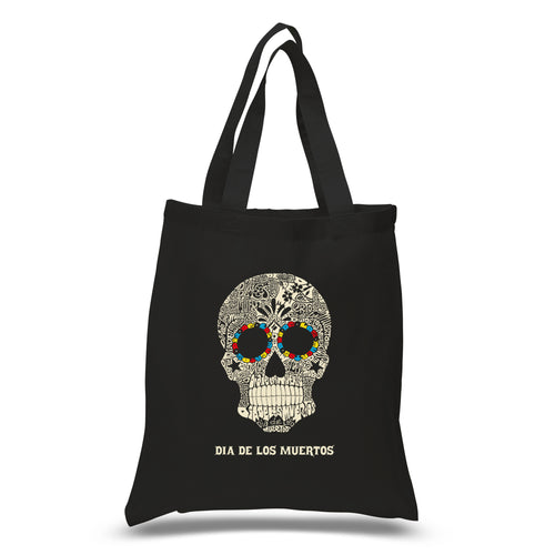 LA Pop Art Small Word Art Tote Bag - Dia De Los Muertos