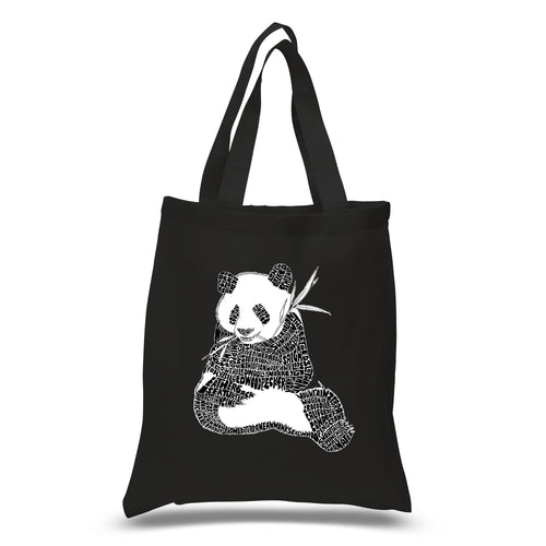 LA Pop Art Small Word Art Tote Bag - ENDANGERED SPECIES