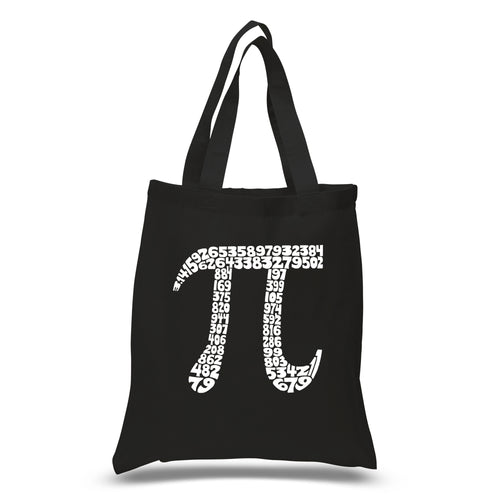 LA Pop Art Small Word Art Tote Bag - THE FIRST 100 DIGITS OF PI