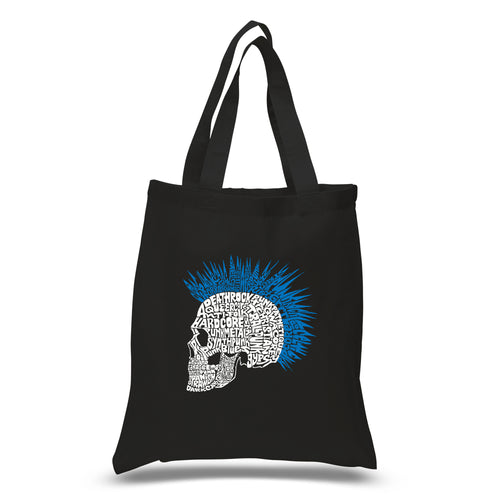 LA Pop Art Small Word Art Tote Bag - Punk Mohawk