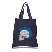 Load image into Gallery viewer, LA Pop Art Small Word Art Tote Bag - Punk Mohawk