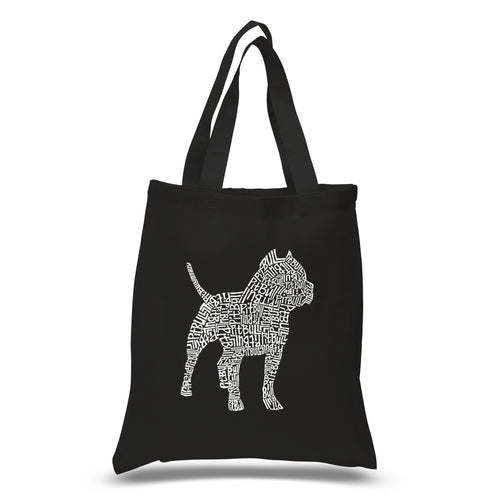 LA Pop Art Small Word Art Tote Bag - Pitbull