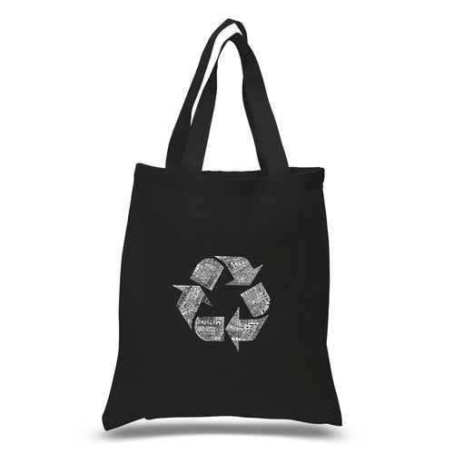 LA Pop Art Small Word Art Tote Bag - 86 RECYCLABLE PRODUCTS