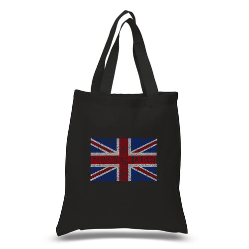 LA Pop Art Small Word Art Tote Bag - God Save The Queen