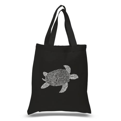 LA Pop Art Small Word Art Tote Bag - Turtle