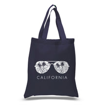 Load image into Gallery viewer, LA Pop Art Small Word Art Tote Bag - California Shades