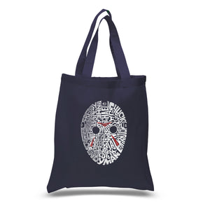 LA Pop Art Small Word Art Tote Bag - Slasher Movie Villians