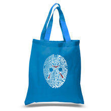 Load image into Gallery viewer, LA Pop Art Small Word Art Tote Bag - Slasher Movie Villians