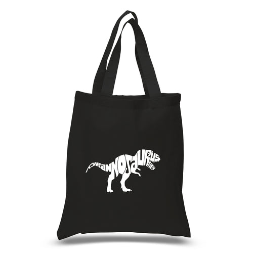 LA Pop Art Small Word Art Tote Bag - TYRANNOSAURUS REX