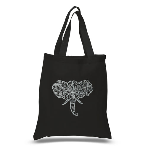 LA Pop Art Small Word Art Tote Bag - Tusks
