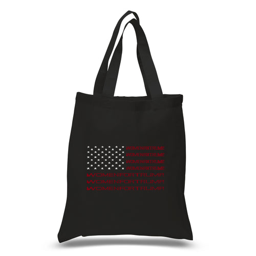 LA Pop Art Small Word Art Tote Bag - Women For Trump