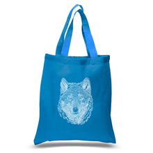 Load image into Gallery viewer, LA Pop Art Small Word Art Tote Bag - Wolf