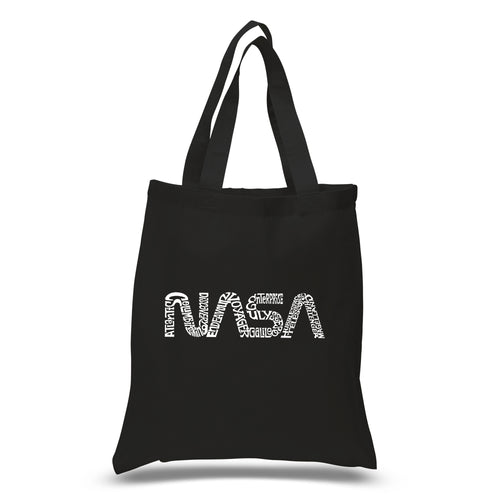 LA Pop Art Small Word Art Tote Bag - Worm Nasa