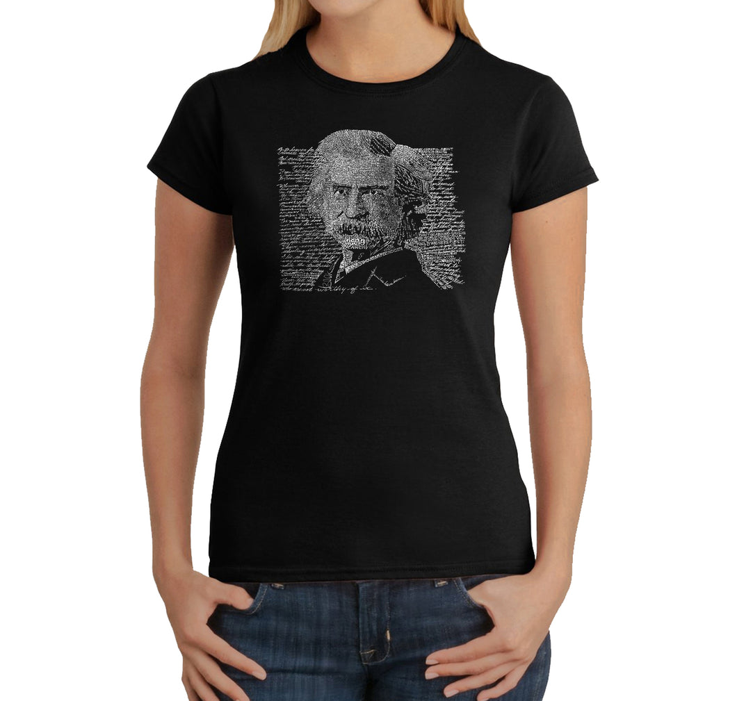 LA Pop Art Women's Word Art T-Shirt - Mark Twain