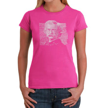 Load image into Gallery viewer, LA Pop Art Women's Word Art T-Shirt - Mark Twain
