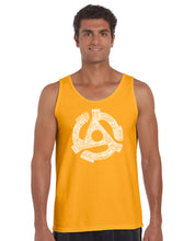 Load image into Gallery viewer, LA Pop Art Men's Word Art Tank Top - Record Adapter