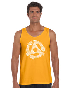 LA Pop Art Men's Word Art Tank Top - Record Adapter