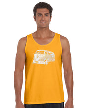 Load image into Gallery viewer, LA Pop Art Men's Word Art Tank Top - THE 70'S