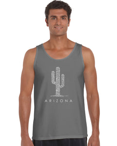 LA Pop Art  Men's Word Art Tank Top - Arizona Cities