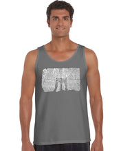 Load image into Gallery viewer, LA Pop Art Men's Word Art Tank Top - Brooklyn Bridge