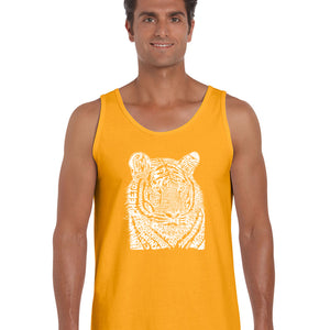 LA Pop Art  Men's Word Art Tank Top - Big Cats