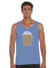 Load image into Gallery viewer, LA Pop Art Men's Word Art Tank Top - Slang Terms for Being Wasted