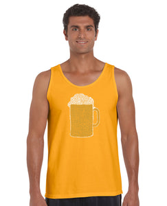 LA Pop Art Men's Word Art Tank Top - Slang Terms for Being Wasted