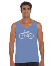 Load image into Gallery viewer, LA Pop Art Men's Word Art Tank Top - SAVE A PLANET, RIDE A BIKE