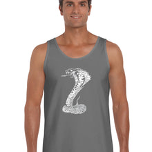 Load image into Gallery viewer, LA Pop Art  Men's Word Art Tank Top - Types of Snakes