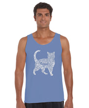 Load image into Gallery viewer, LA Pop Art Men's Word Art Tank Top - Cat