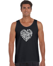 Load image into Gallery viewer, LA Pop Art Men's Word Art Tank Top - LOVE