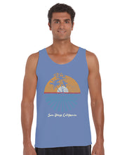 Load image into Gallery viewer, LA Pop Art Men's Word Art Tank Top - Cities In San Diego