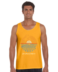 LA Pop Art Men's Word Art Tank Top - Cities In San Diego