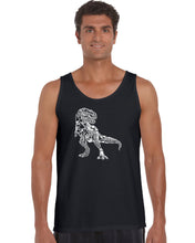 Load image into Gallery viewer, LA Pop Art Men's Word Art Tank Top - Dino Pics